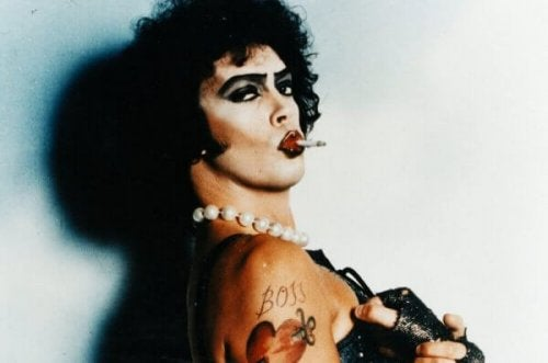 "Die Figur Frank N. Furter aus ""The Rocky Horror Picture Show"""