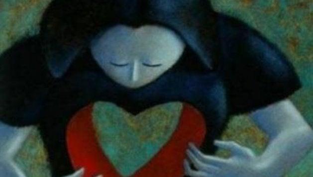 Frau mit leerem Herzen