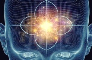 Abstrakte Darstellung des Gehirns