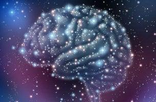 Gehirn aus Sternen geformt