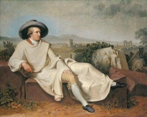 Gemälde von Goethe in der Camapagna