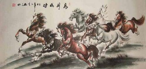 Gruppe von Pferden