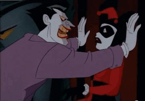 In der Animation von 1992 spricht der Joker mit Harley Quinn