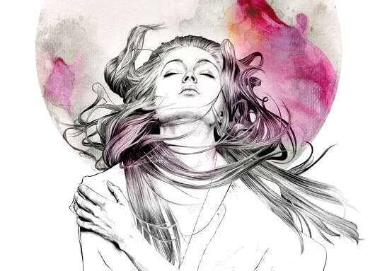 Frau mit geschlossenen Augen legt ihren Kopf in den Nacken