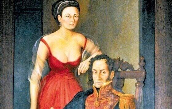 Simon Bolívar und seine Geliebte Manuela