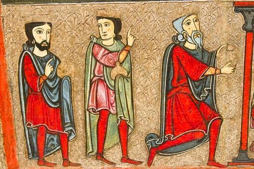 Ein mittelalterliches Gemälde