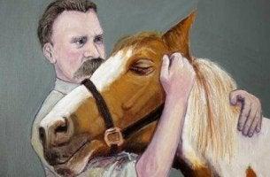 Friedrich Nietzsche und Pferd