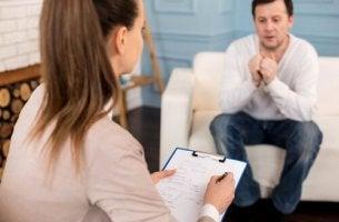 Psychologe und Patient