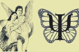 Amor und Psyche, Phi und ein Schmetterling