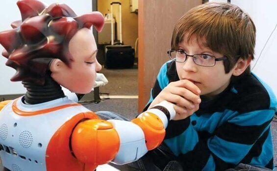 Roboter und Kinder mit Autismus