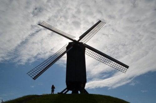 Windmühle als Symbol für den Don-Quijote-Effekt