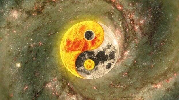 Yin und Yang als Sonne und Mond