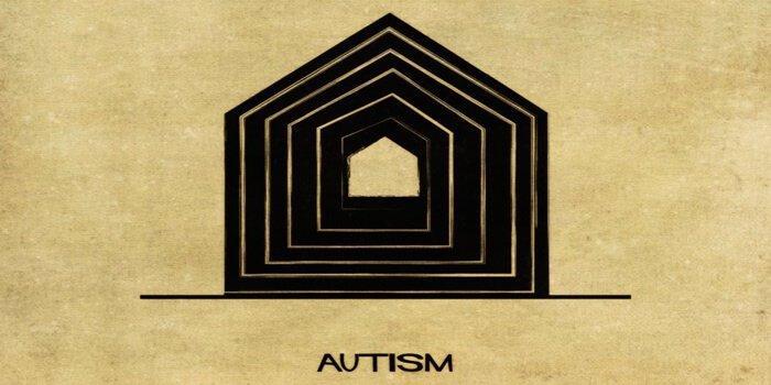 Autismus vom italienischen Architekten Balbina dargestellt.