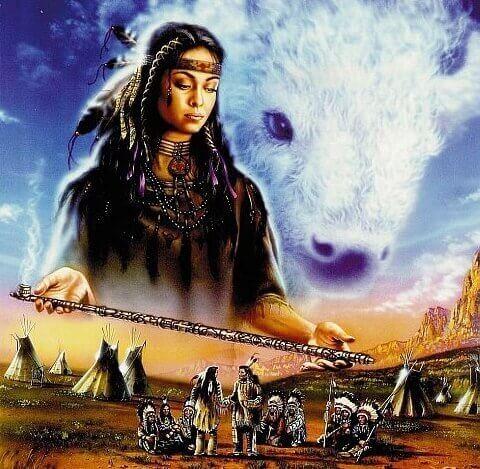 Die Wakan überreicht den Lakota die Friedenspfeife.