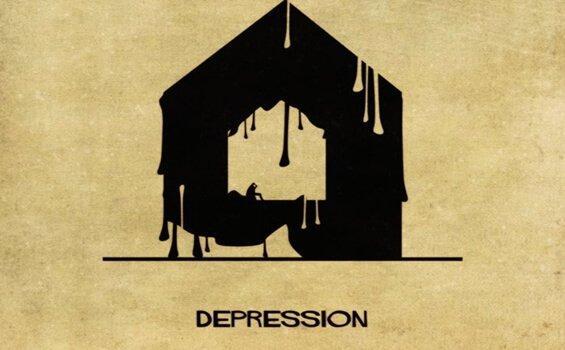 Depression vom italienischen Architekten Babina dargestellt