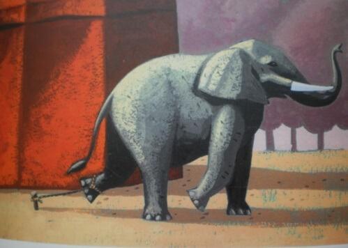 Der angekettete Elefant: Eine wunderschöne Geschichte