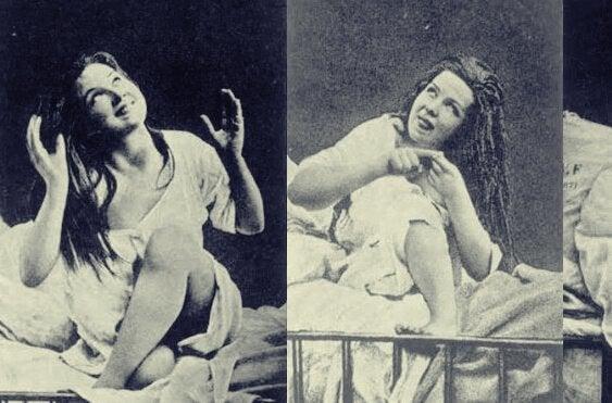 Frauen, die an Hysterie leiden