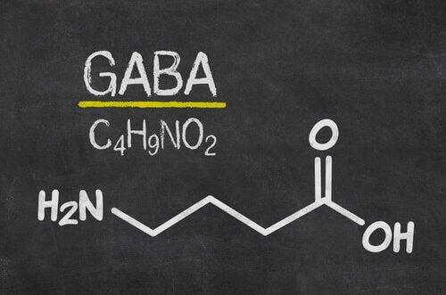 GABA-Formel auf einer Tafel