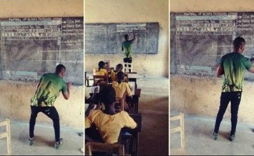 Einstellung und Inspiration: Der ghanaische Lehrer, der IT mit Kreide und Tafel unterrichtet