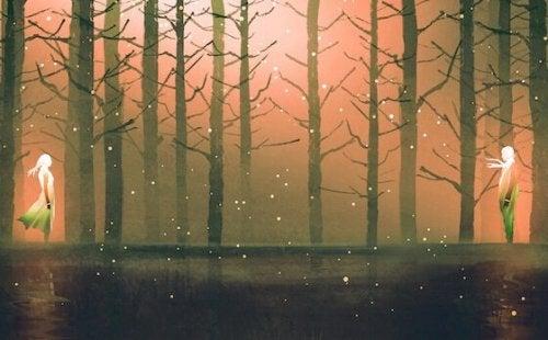 Paar in einem Wald