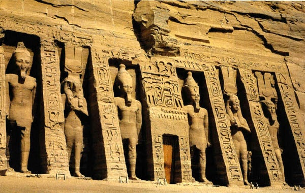 Wand eines ägyptischen Tempels