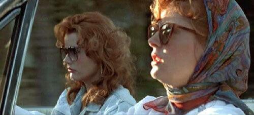 Thelma und Louise im Auto