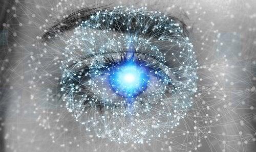 Auge mit Punkten