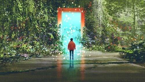 Tür führt in eine Zauberwelt