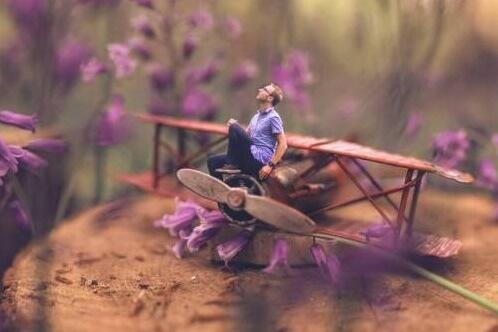 Figur auf Modellflugzeug