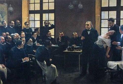 Charcot hält einen Vortrag