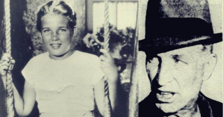Schwarz-Weiß-Foto von Sally Horner und Frank LaSalle