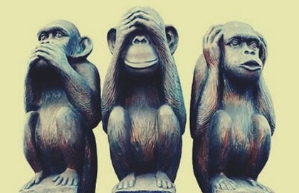 Das Bild der drei Affen und das gute Leben