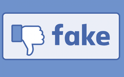 Facebook-Button: Dislike Fake News