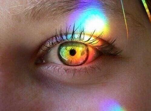 Leuchtendes Auge