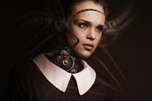Uncanny-Valley-Konzept - menschlicher Roboter