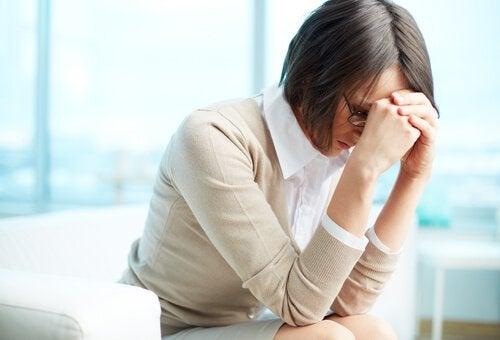 Überforderte und gestresste Frau