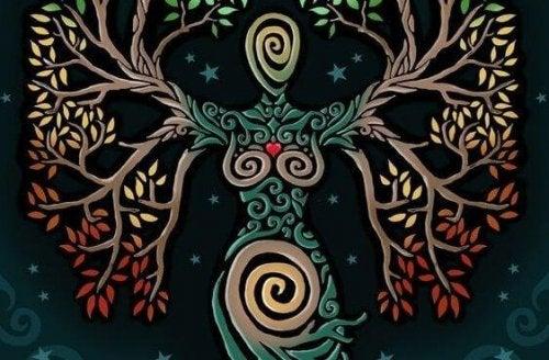 Baum in Frauenform als Zeichen für die Visualisierungsübung zur inneren Harmonie