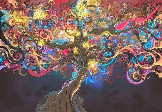 Bunter Baum des Lebens