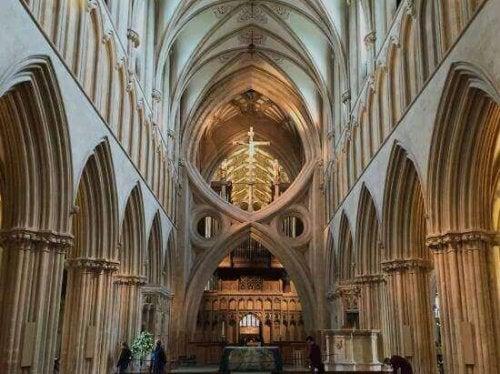 Gotische Kathedrale von Wells in England