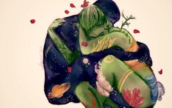 Hormone und Liebe: Paar umarmt sich