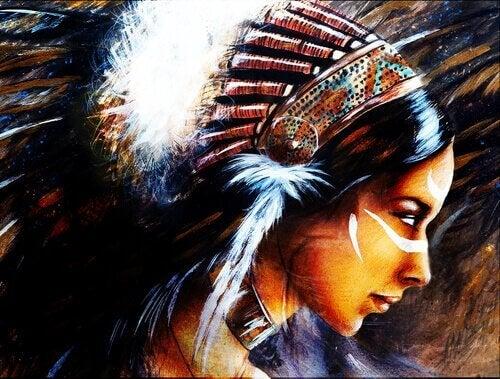 Indianische Kriegerin