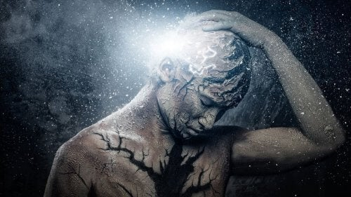 Kopfschmerzen kunstvoll dargestellt