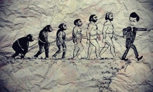 Evolution vom Affen zum Knecht