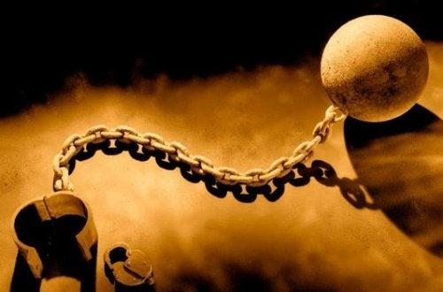 Eisenkette eines Sklaven