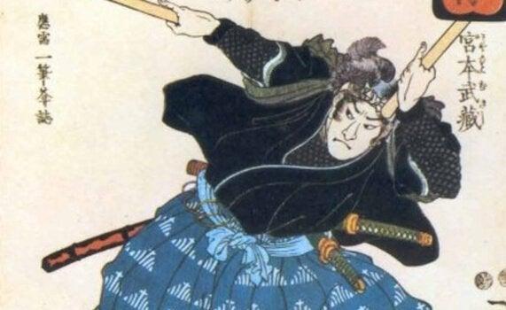 Bild eines kämpfenden Samurai