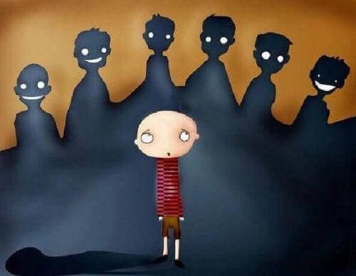 Die emotionale Wunde des Mobbings beim Opfer und seiner Familie