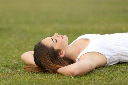 Völlige Entspannung und im Einklang mit sich selbst sein