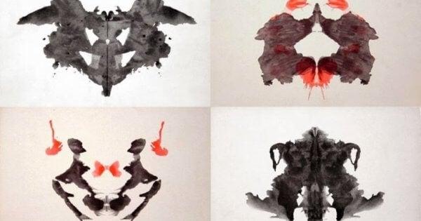 Vier Bilder des Rorschachtests.