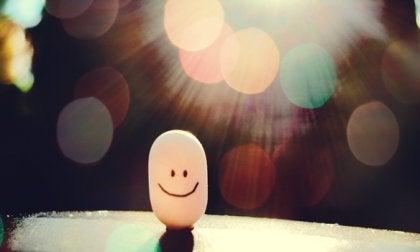 Smiley im Rampenlicht