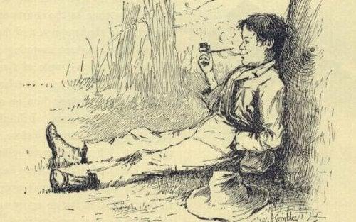 Zeichnung von Huckleberry Finn